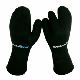 Трёхпалые рукавицы Sigma Sub 7 мм