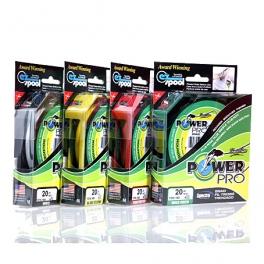 Шнур плетеный Power Pro 135 м (жёлтый, зелёный,  красный)