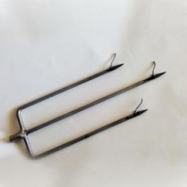 Трезубец облегчённый с 3-х гранной заточкой и перекидными флажками