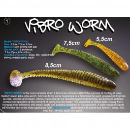 Силиконовая приманка Crazy Fish Vibro Worm